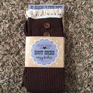 Brown boot socks